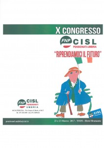x congresso fnp cisl umbria (programma dei lavori)