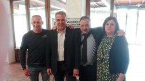 il segretario generale della Fai Cisl Luigi Sbarra con la segreteria regionale della Fai Cisl Umbria