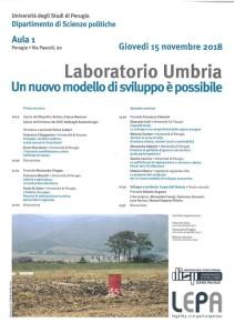 Laboratorio Umbria - 15 novembre 2018