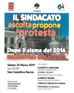 il sindacato ascolta propone protesta - 23 marzo 2019