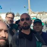 A Roma in Piazza del Popolo, allo sciopero generale dei lavoratori delle costruzioni #15marzo
