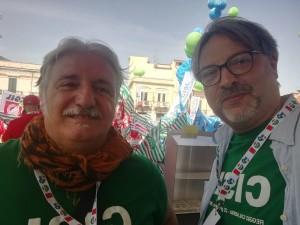 Il segretario generale regionale Cisl Umbria Ulderico Sbarra con il segretario regionale CIsl Umbria Riccardo Marcelli a Reggio Calabria
