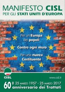 manifesto cisl - 25 marzo 2017