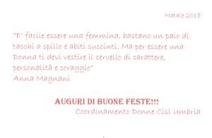 Natale 2018 - Coordinamento Donne Cisl Umbria